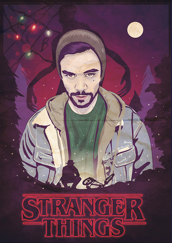 "Ritratto Illustrato ""Stranger Things"" Inspired"
