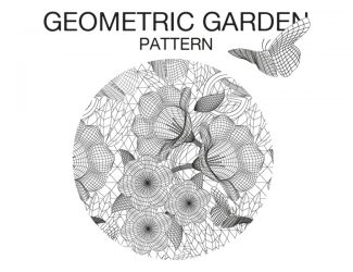Pattern Allover Geometric Garden